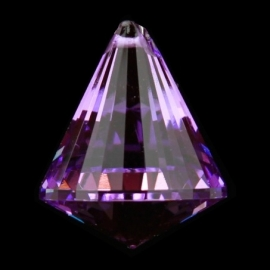 "Kristal raamhanger ""Kegel"" violet - ca. 4,2 x 5,3 cm"