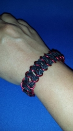 Ring armband rood