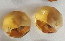 Octagon kraal - geel