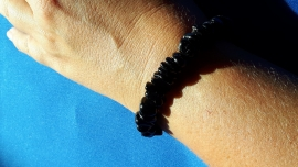 Split armband grof - Zwarte Tourmalijn