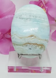 Calciet Blue Caribbean met Aragoniet handsteen