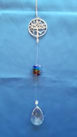 Chakra hanger met octagon kralen + levensboom
