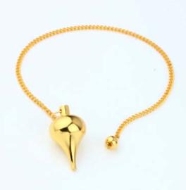 Zware pendel rond - goud kleurig