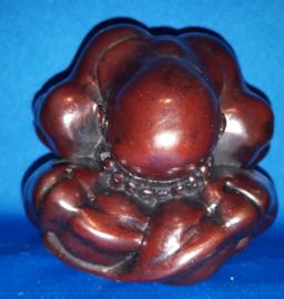 Yogiman - donker bruin polystone 8cm