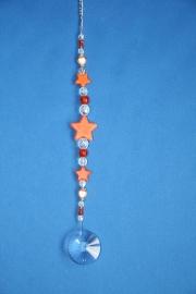 Sterren oranje + loodkristallen cirkel