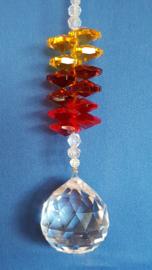 Chakra hanger met 3 kleuren octagon kralen