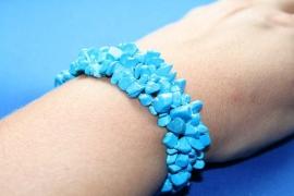 Split armband breed - Howliet blauw