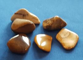 Jaspis bruin  knuffelsteen - klein