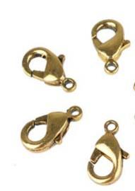 Karabijn slotje - 5 stuks - oud goud