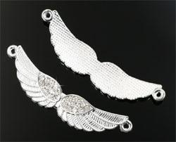 Vleugels met strass en 2 oogjes