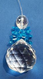 Engel Blauw/Turquoise 2cm bol