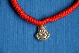 Boeddha armband rood