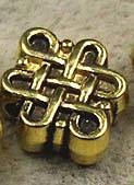 Oneindige knoop kraal - goud