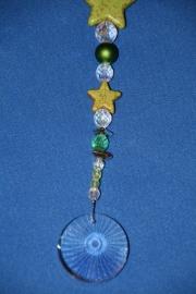 Sterren groen + loodkristallen rondje