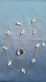 Hanger met kristal octagon kralen