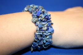 Split armband breed - Lapis azuli