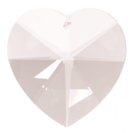 "Kristal raamhanger ""hart"" groot , ca. 5cm"