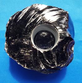 Obsidiaan waxinelicht