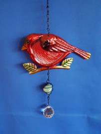 Vogel - rood met 3cm bol