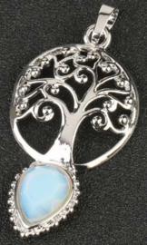 Levensboom hanger Opaliet druppel