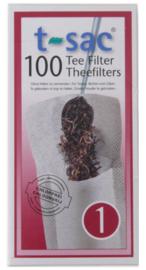 T-Sac 1 - 100 thee filter zakjes voor 1 kopje