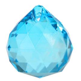 "Kristal raamhanger ""Bol"" 3 cm - Blauw"