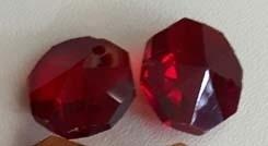 Octagon kraal - rood