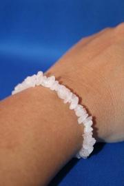 Split armband smal - Rozenkwarts