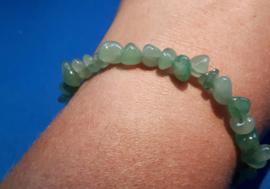 Split armband glad - Aventurijn groen