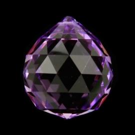 "Kristal raamhanger ""Bol"" 4 cm - Violet"