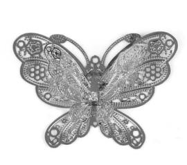 Vlinder sierlijk 2d metaal - groot