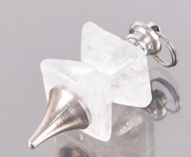 Bergkristal pendel hoekig