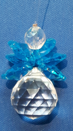 Engel Blauw/Turquoise 4cm bol