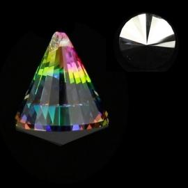 """Kristal raamhanger """"Kegel"""" multicolor - ca. 4,2 x 5,3 cm"""
