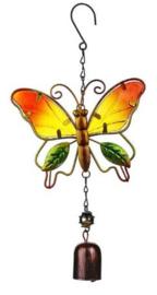 Vlinder oranje/geel met bel