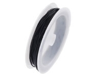 Leren koordje/veter - zwart - 1mm dikte