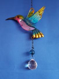 Kolibrie (blauw) met 3cm bol