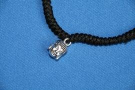 Boeddha armband zwart
