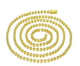 Ball chain (bolletjesketting) ± 80cm (± 3mm dik) - goud