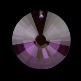 "Kristal raamhanger ""Cirkel"" violet - ca. 4,5cm *OP=OP*"