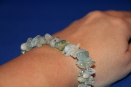 Split armband - Aquamarijn - A-kwaliteit