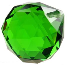 """Kristal raamhanger """"Bol"""" 3 cm - Groen"""