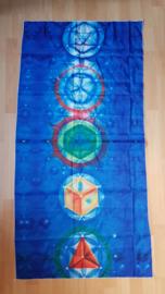 Kleed 7 chakra symbolen blauw