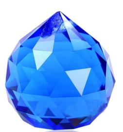 """Kristal raamhanger """"Bol"""" 3 cm - Donker blauw"""