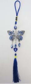 Vlinder met blauwe oog en sliert