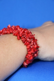 Split armband breed - Howliet rood