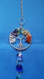 Chakra hanger met octagon kralen + Chakra levensboom