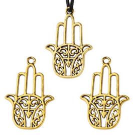 Fatima handje open - goud