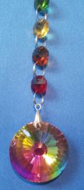 Chakra hanger met octagon kralen + Cirkel multi