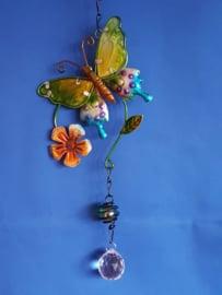 Vlinder geel/groen met 3cm bol